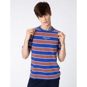 Tommy-Jeans-Camiseta-Listrada-Azul