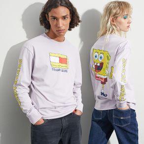 Tommy-Jeans-Camiseta-Manga-Longa-Bob-Esponja-Colecao-A-Blast-From-The-Past