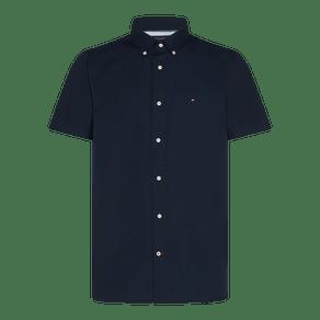 Camisa-Regular-Manga-Curta-Popeline